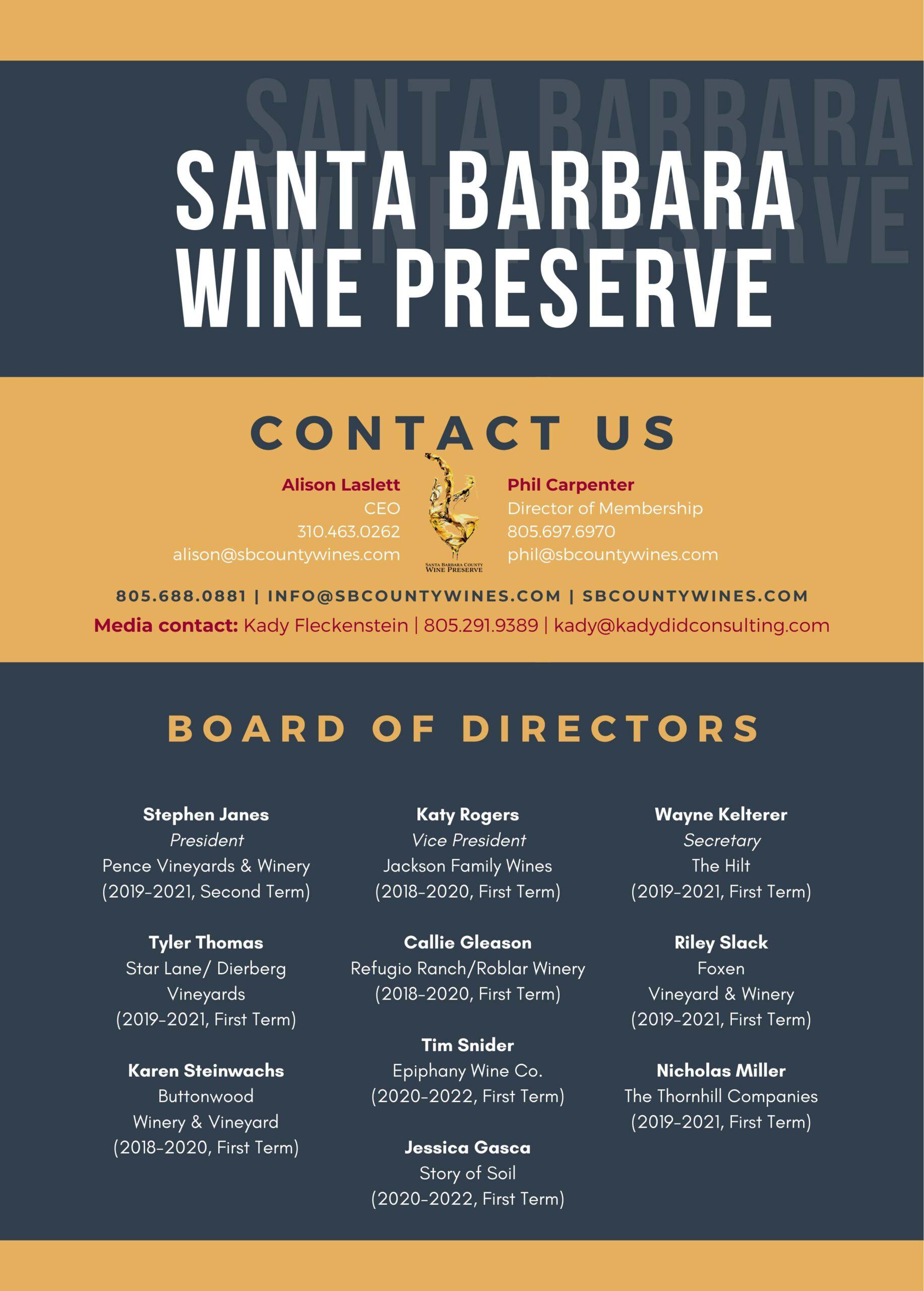Santa Barbara Wine Preserve Contact